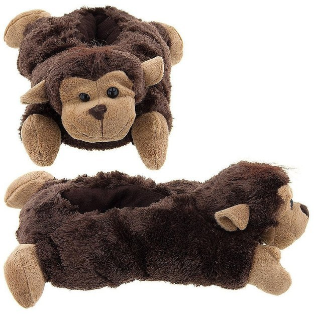 These fuzzy monkey slippers.
