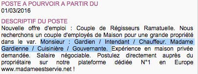 Madame Cuisine Monsieur Bricole Les Annonces Clichees Des