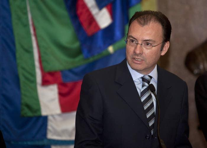 Mexico's Treasury Secretary Luis Videgaray.