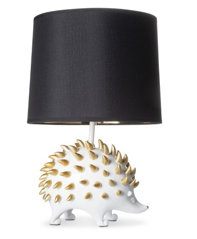 A hedgehog lamp that looks pretty sharp.