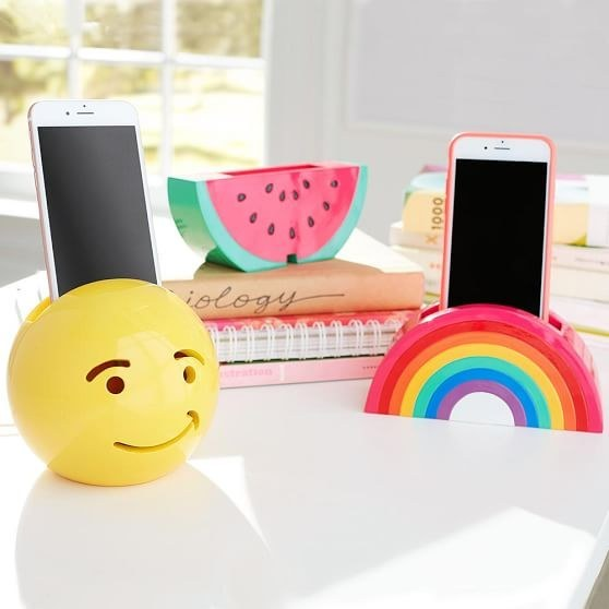 This rainbow phone holder and charger.