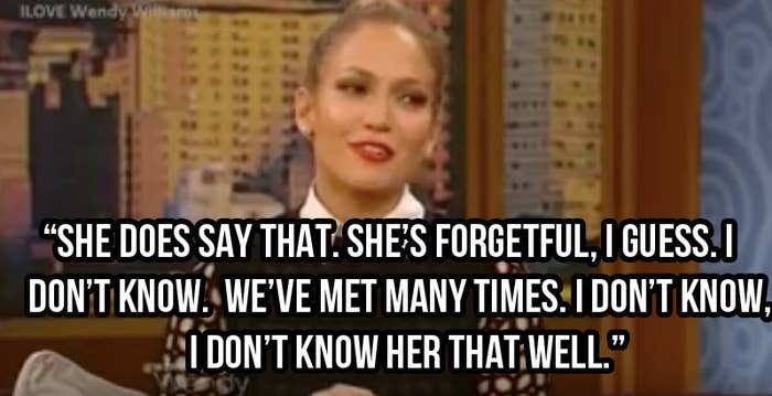 Myndaniðurstaða fyrir jennifer lopez says mariah is forgetful wendy williams