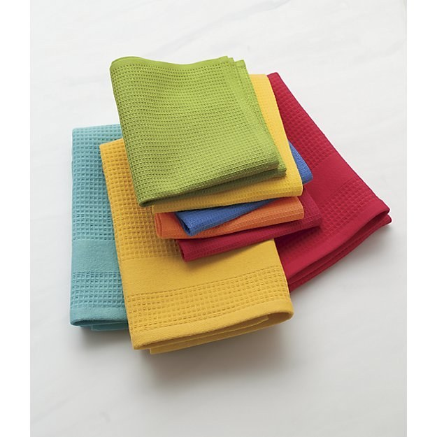 These dish cloths in a bunch of colors.