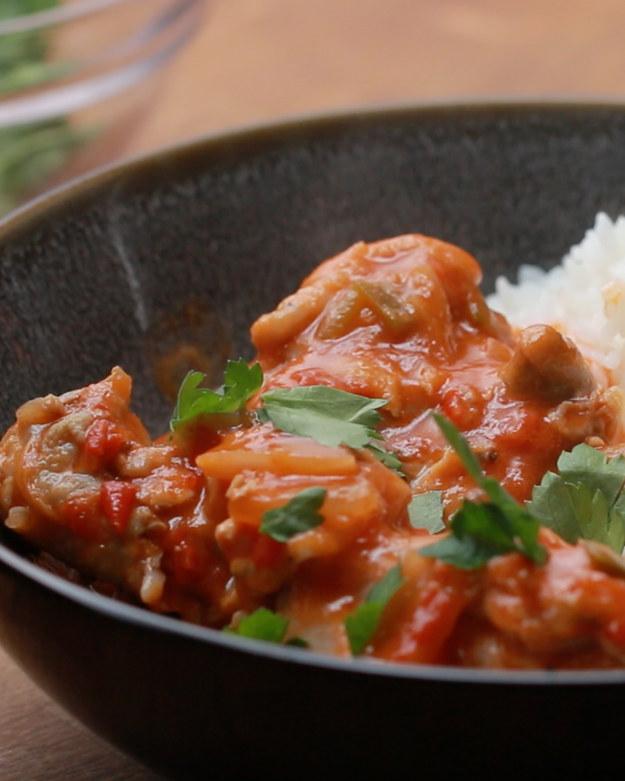 Spicy Tomato Coconut Chicken