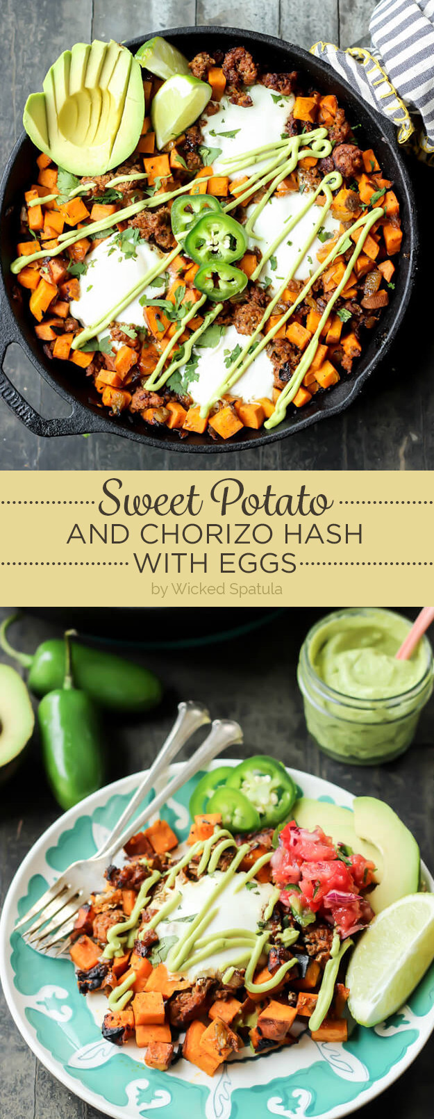 Sweet Potato and Chorizo Hash with Eggs