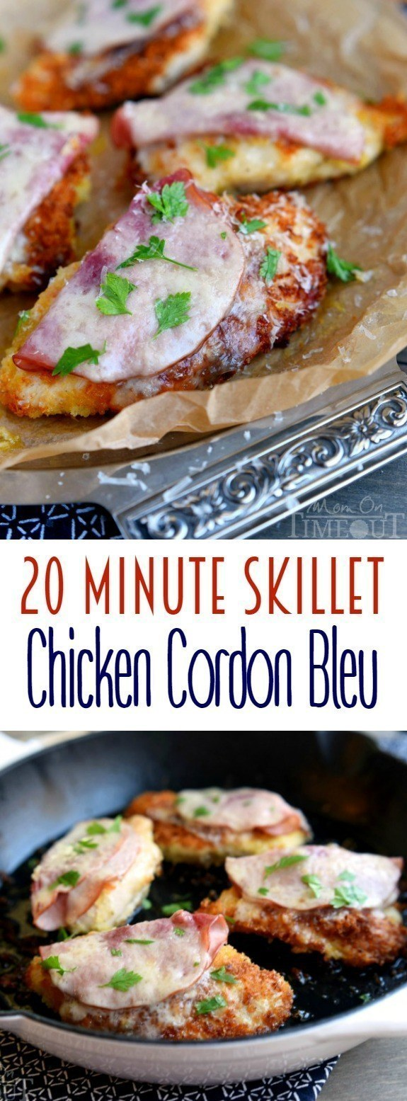 20-Minute Skillet Chicken Cordon Bleu