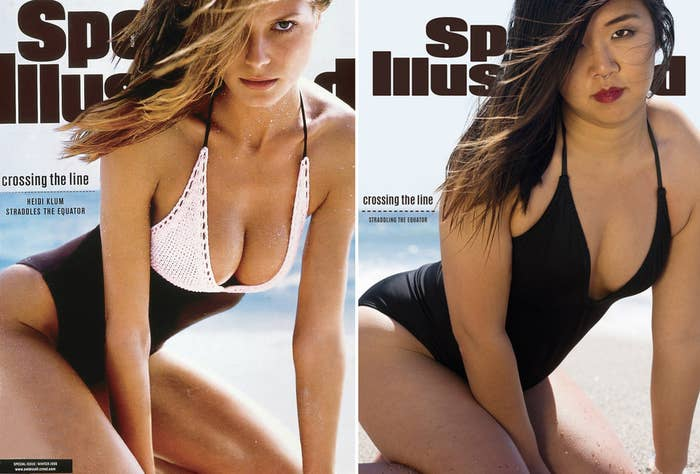 """41b365e71ff We Posed Like """"Sports Illustrated"""" Swimsuit Cover Models And It Was ..."""
