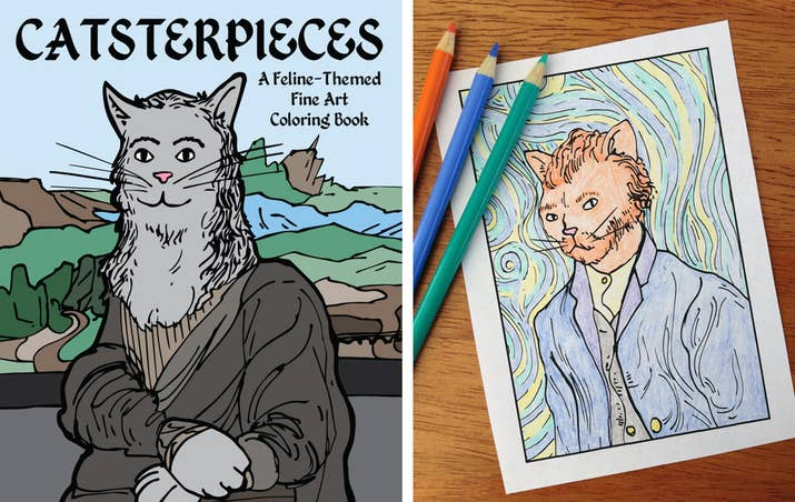 This Coloring Book Imagines What A Selection Of Famous Paintings Would Look Like If All