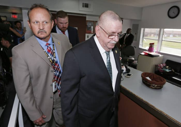 Oklahoma Department of Corrections Director Robert Patton after announcing he had received the wrong execution drugs.