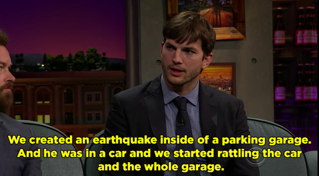 Last night on The Late Late Show, Ashton Kutcher told James Corden that one of his favorite Punk'd episodes was Drake's.