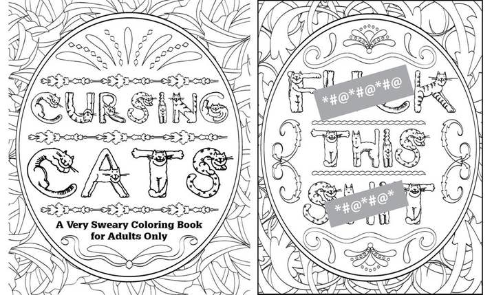 Cursing Cats This Adults Only Coloring Book