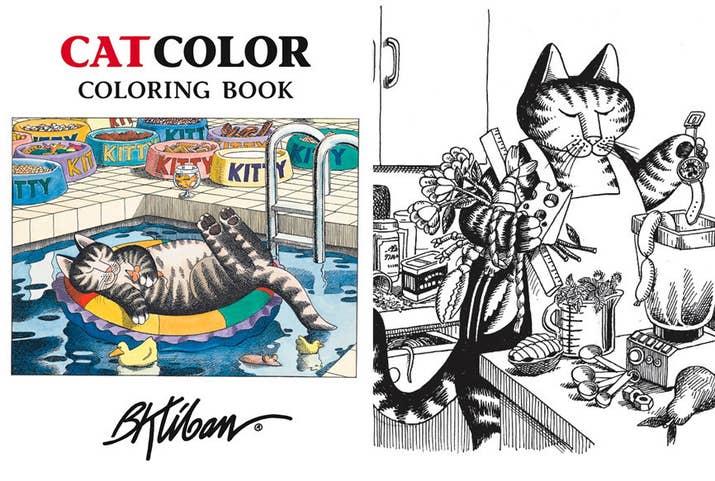 Kliban Cat Color Coloring Book