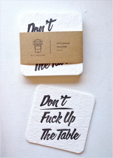 These imperative coasters.