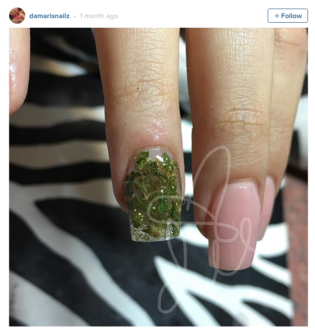 "Pham calls them a ""niche clientele."" She doesn't charge anything extra for weed manicures, but does require that the client have a legal California cannabis card."