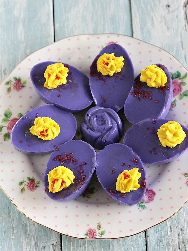 Jello Sweet Deviled Eggs