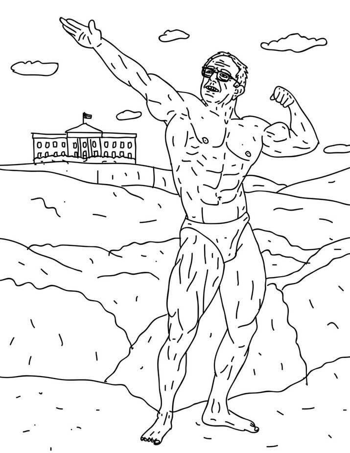 There\'s Now A Half-Naked Bernie Sanders Coloring Book