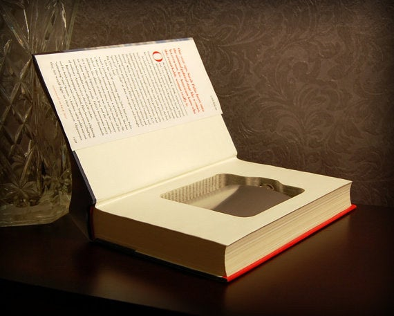 And they said studying couldn't be fun! Find more hollow book flask safes at Secret Safe Books.