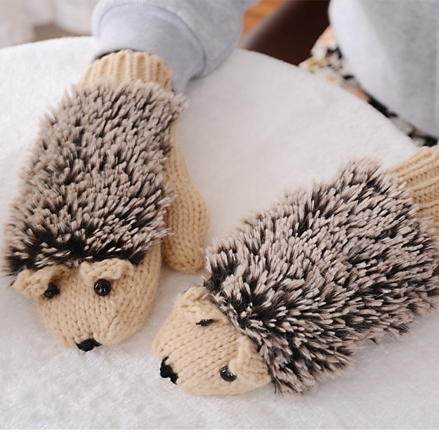 These cozy hedgehog mittens that are basically just made to cuddle with your hands.