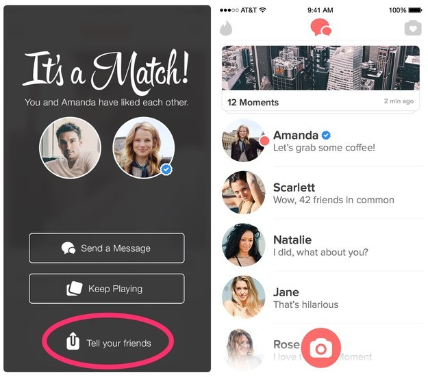 But Tinder already has a share button!