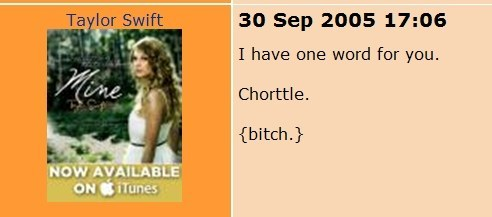 """And in this one she uses the word """"Chorttle."""""""