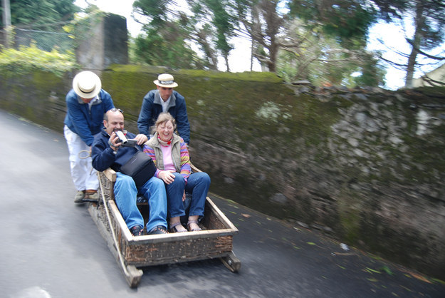 Downhill Wicker Toboggan Rides (Madeira, Portugal)