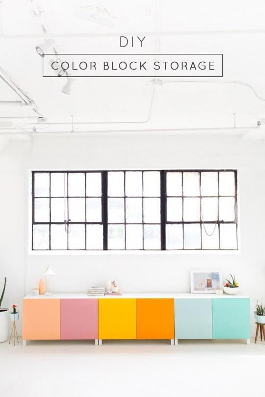 Customize some chromatic Ikea storage: