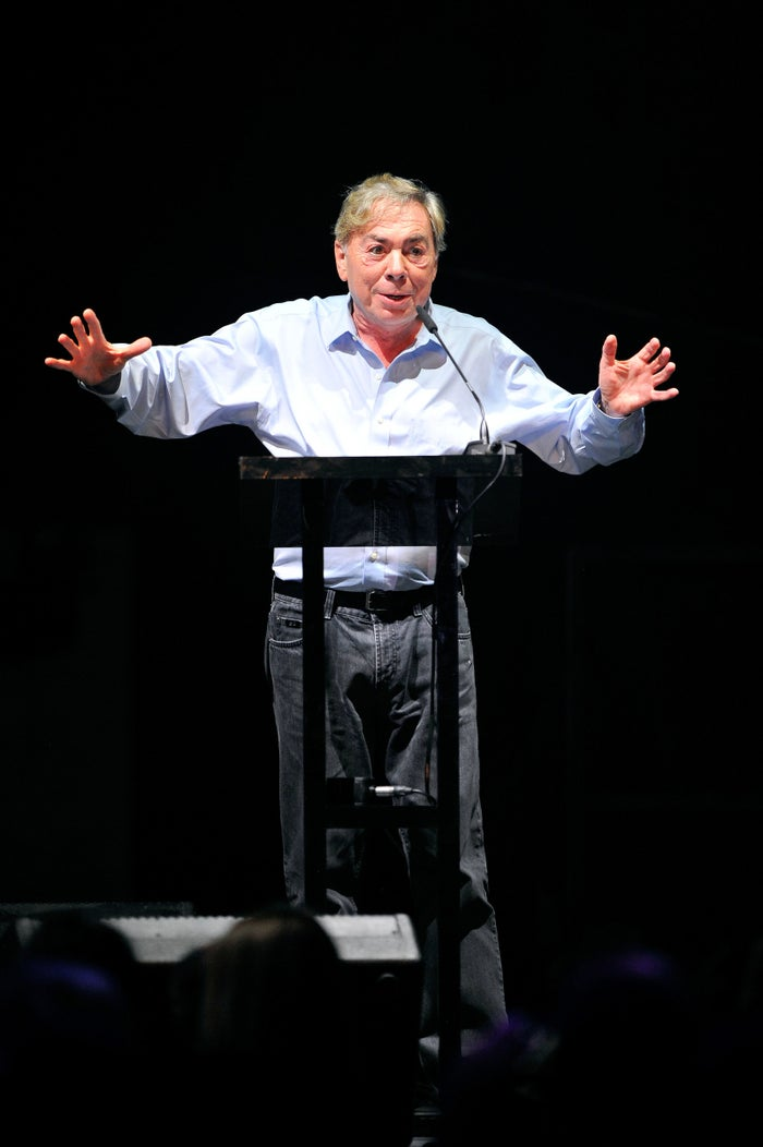 Andrew Lloyd Webber at the inaugural London Music Awards in 2014.