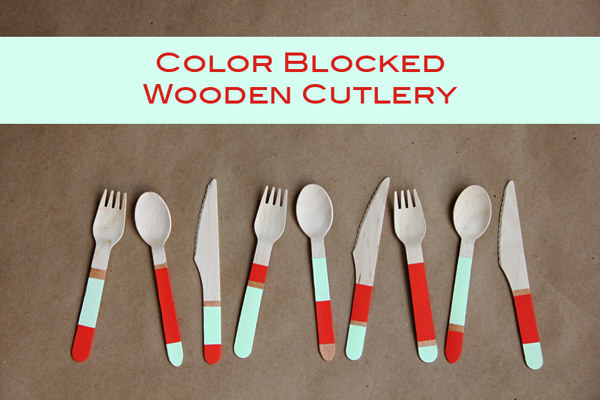 Make some cutlery you actually love with your own colorblock pattern:
