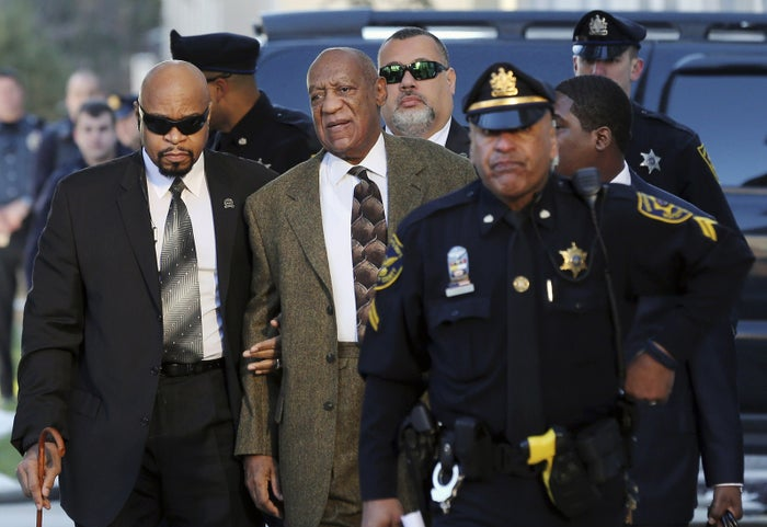 Bill Cosby arrives for a court appearance.