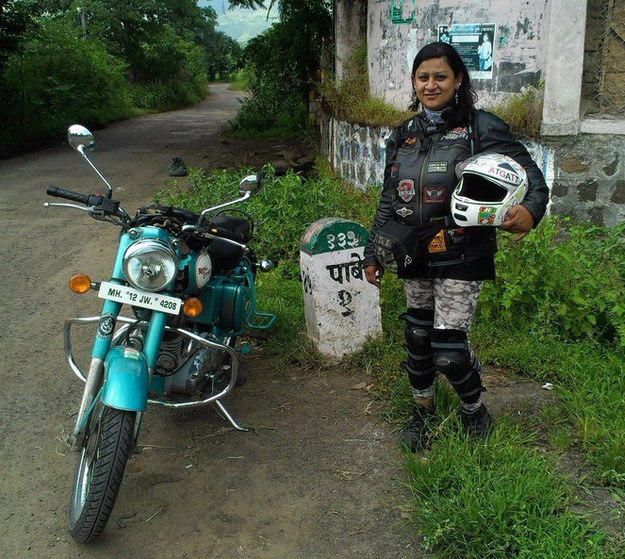 This is Urvashi Patole, a motorcycle enthusiast, and founder of Bikerni – India's first and largest all-female motorcycle group.