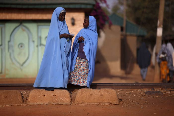 Girls in a northern Nigerian town recently attacked by Boko Haram, an extremist group that has kidnapped and raped hundreds of women and girls.