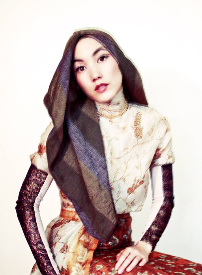 """Her style is elegant and chic, which she says comes from her upbringing. """"There is a side of me obsessed with simplicity and the beauty of the unseen that is very Japanese, and then this rebellious, rather eccentric aspect that comes out of my experiences growing up in England,"""" she writes on her website."""