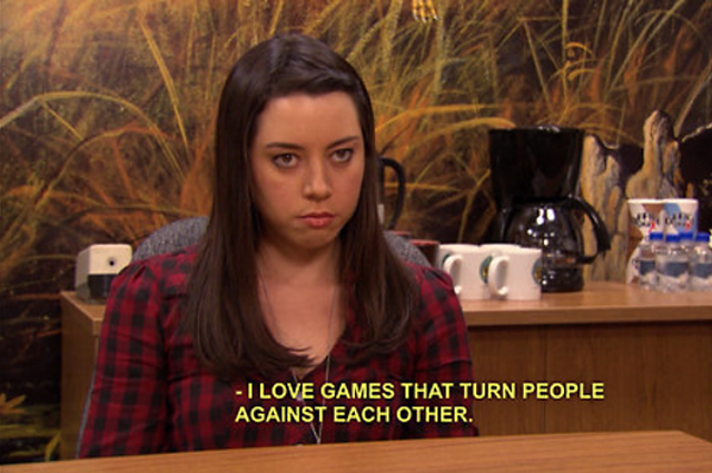 23 of april ludgate 39 s most iconic lines on parks and recreation. Black Bedroom Furniture Sets. Home Design Ideas