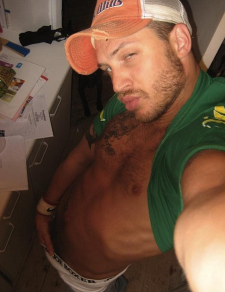 And lastly, your king of embarrassing old Myspace pics: Tom Hardy.