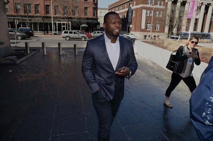 Curtis Jackson, also known as 50 Cent, makes an appearance at bankruptcy court on March 09, 2016 in Hartford, Connecticut.