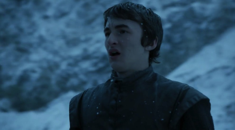 Yes! It's Bran. Yesss! He's standing. But no, he can't walk again.