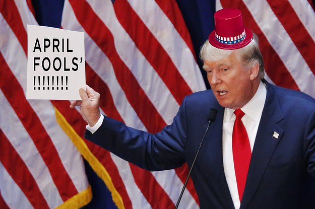 Image result for april fools with Trump