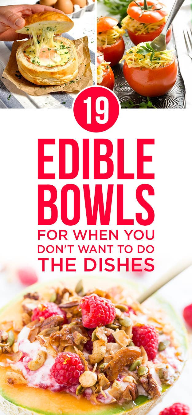 Camouflage Dishes 19 Edible Bowls For When You Dont Want To Do The Dishes