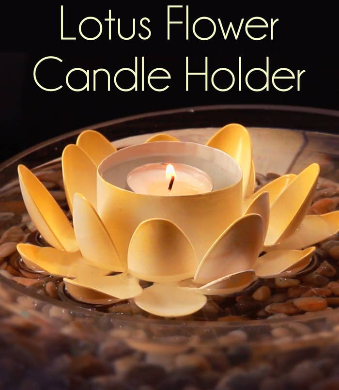 Get Zen Af With These Diy Lotus Candle Holders