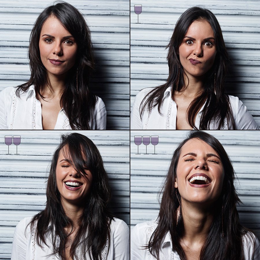 Dazzling Photos Capture How Faces Change After Drinking Wine