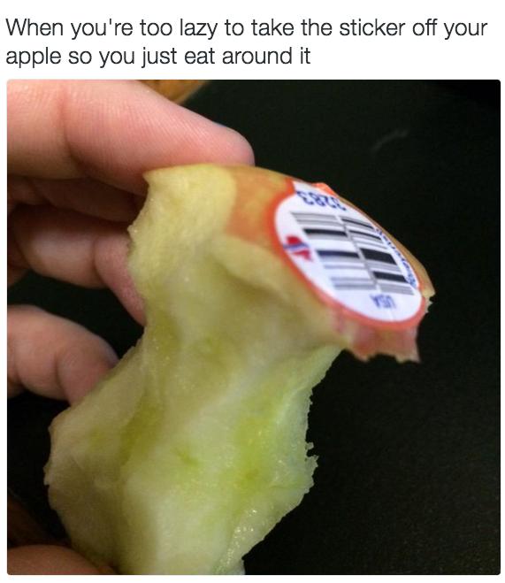 Despegar una etiqueta es demasiado esfuerzo en el siglo 21.