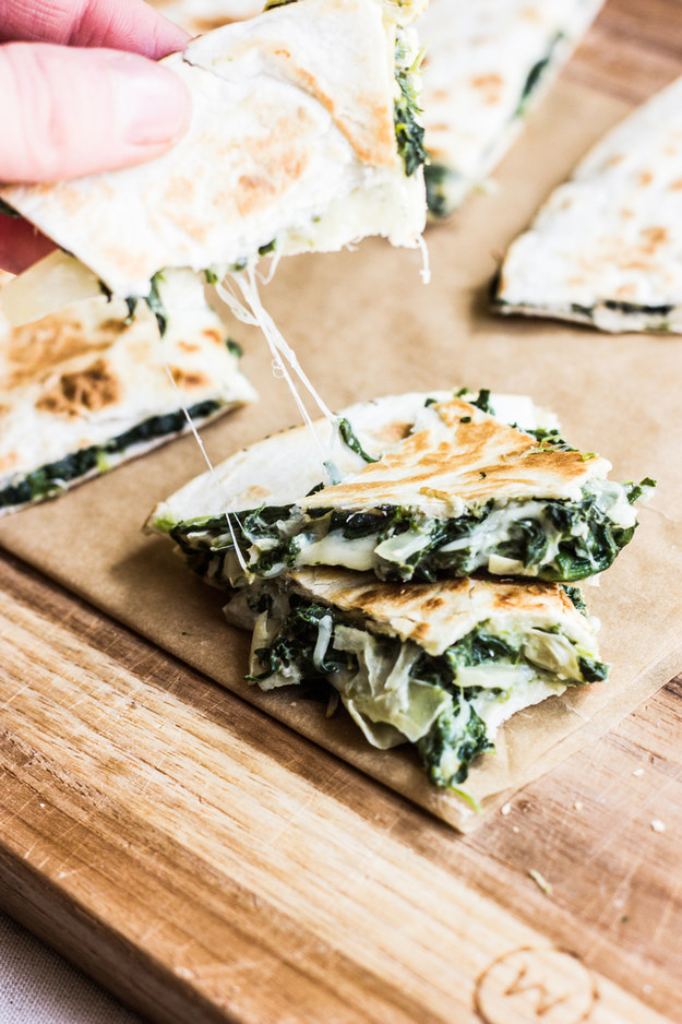 Spinach and Artichoke Quesadilla