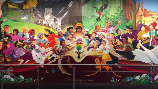 8 conspiracy theories about the denver airport that 39 ll for Denver mural conspiracy