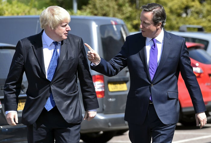 The two key players of the Leave and Remain campaigns: London mayor Boris Johnson (left) and UK prime minister David Cameron.