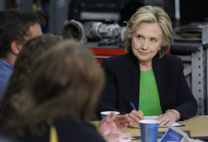 Hillary Clinton at the first event of her campaign on April 14, 2015, in Monticello, Iowa.