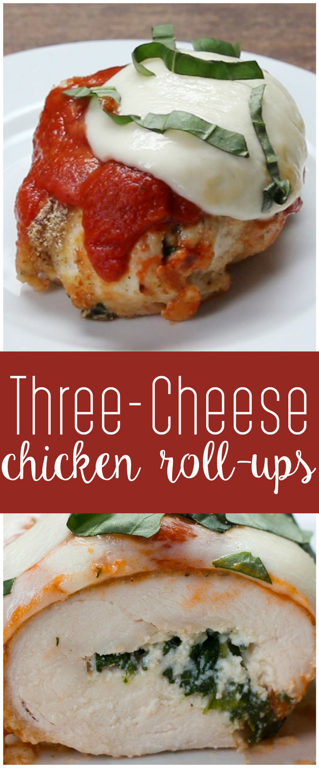Three-Cheese Chicken Roll-Ups