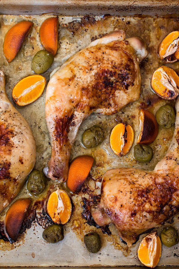 10. Roasted Chicken with Tangerines and Olives