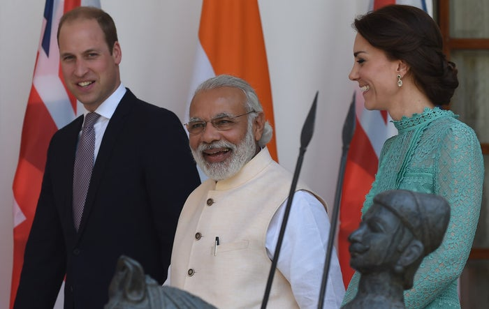 In their excitement, a lot of Indians have taken to wearing masks of the Duke and Duchess… To incredibly creepy effect.