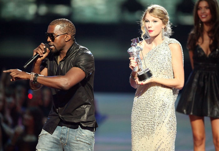 The line was a reference to this incident in 2009, where Kanye interrupted Taylor's speech at the MTV Video Music Awards to say Beyoncé should have won.