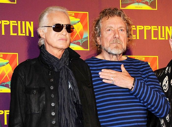 Led Zeppelin guitarist Jimmy Page, left, and singer Robert Plant.